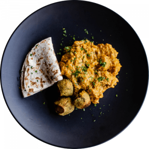 Butternut Korma _ sweet Potato Falafel